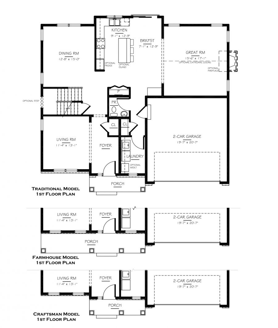 single family homes ponds of odessa benchmark builders first floor